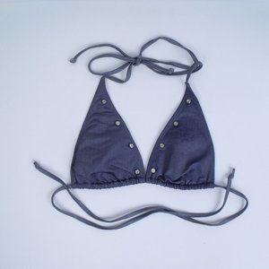 True Religion Triangle String Bikini Top Medium